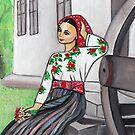 Folk art - I'm in love  by Marikohandemade