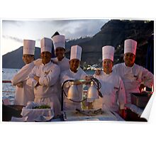Six Happy Chefs Poster