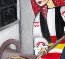 Folk art - Landlady Sticker