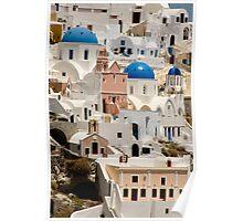 Santorini Hillside Poster