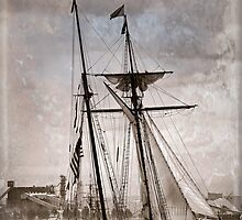 Gaff Rigged Clipper by Bryan Peterson