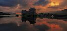 A Still Dusk over Eilean Donan Castle by David Alexander Elder