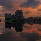 A Still Dusk over Eilean Donan Castle by David Alexander Elder
