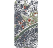 Seville city map engraving iPhone Case/Skin