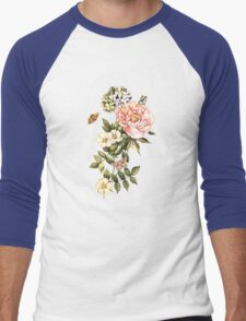 Watercolor vintage floral motifs Men's Baseball ¾ T-Shirt