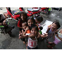 children of the philippines: smiles, strength and poverty Photographic Print