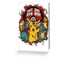 Dead Pikachu Greeting Card