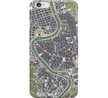 Rome city map engraving iPhone Case/Skin
