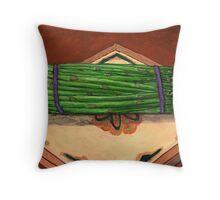 Autumn Asparagus Spears Throw Pillow