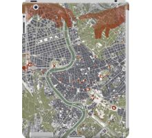 Rome city map engraving iPad Case/Skin