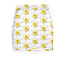 Narcissus Print Mini Skirt