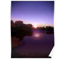 first at the lake at dawn Poster