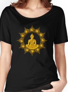 Buddha Meditation, Lotus Flower, Anahata, Heart Chakra Women's Relaxed Fit T-Shirt