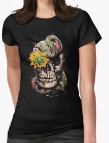 Snake and Skull Womens Fitted T-Shirt