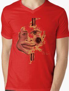Pole Face Mens V-Neck T-Shirt