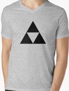 Triforce - Ancient Magical Symbol, Sierpinski Triangle Mens V-Neck T-Shirt