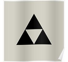 Triforce - Ancient Magical Symbol, Sierpinski Triangle Poster