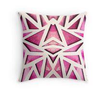 Pink Geo Paper Cut Throw Pillow