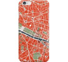 Paris city map classic iPhone Case/Skin
