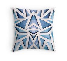 Blue Geo Paper Cut Throw Pillow
