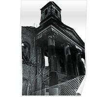 St Pauls Dockyard Church. Burnt. Poster