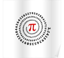 Pi, π, spiral, Science, Mathematics, Math, Irrational Number, Sequence Poster