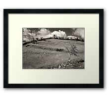 History In The Hills Framed Print