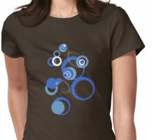 Retro Bubbles Seventies II Womens Fitted T-Shirt