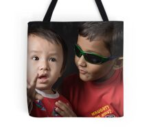 Brother,I am Scared!!!!! Cool Baby..... Tote Bag