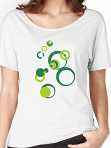 Retro Bubbles Seventies green Women's Relaxed Fit T-Shirt