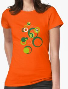 Retro Bubbles Seventies green Womens Fitted T-Shirt