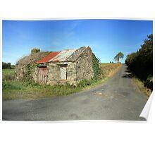 Old Rural cottage Poster