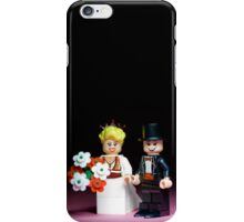 Lego Bride and Groom ( with top hat ) iPhone Case/Skin