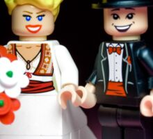 Lego Bride and Groom ( with top hat ) Sticker