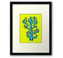 Cactus azul Framed Print