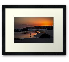 Gull at Sunrise Framed Print