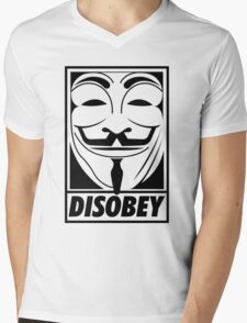 Disobey Mens V-Neck T-Shirt