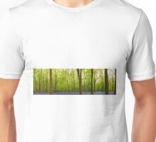 Amazing Bluebell Wood - Panorama Unisex T-Shirt