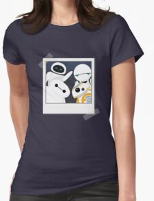 Baymax and Friends Selfie  Womens Fitted T-Shirt
