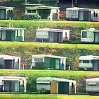 Caravans on the Hill by Michael Stocks