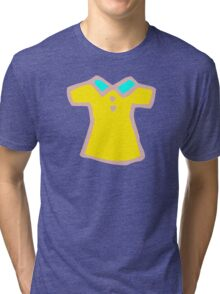 YELLOW DRESS ILLUSTRATION Child button Tri-blend T-Shirt