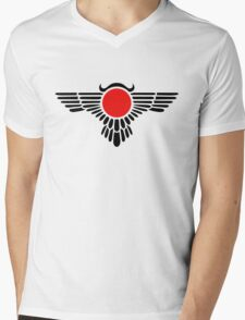 Egyptian Sun Disc, Winged Globe, Symbol of the perfected soul,  Mens V-Neck T-Shirt