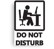 Gaming - DO NOT DISTURB Canvas Print