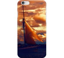 Tallship - Moody Blues and Powerful Oranges iPhone Case/Skin