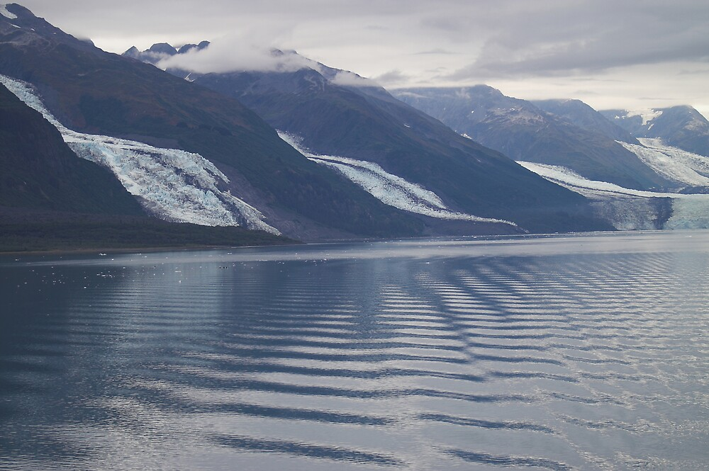 Glaciers College Fiord Alaska by Melva Vivian