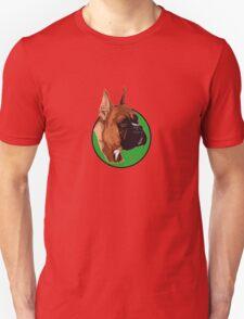 BOXER DOG PORTRAIT GREEN Unisex T-Shirt