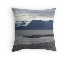 Glaciers Homer Spit Throw Pillow