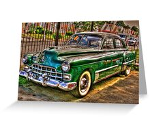 1948 Cadillac-side view full Greeting Card