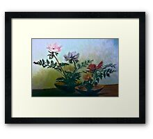 Two Flower Bowls Painting Framed Print