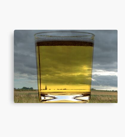 A Glass of Beer Canvas Print